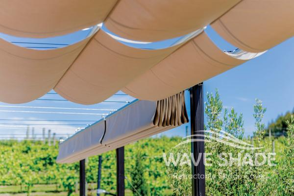 Wave Shade Retractable Shade Cover 5