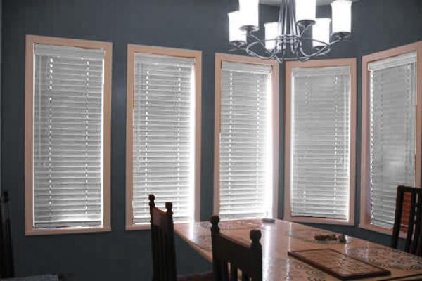 Wooden and pvc blinds