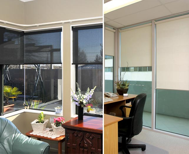 Roller sunscreen blinds mccraes for What does light filtering blinds mean