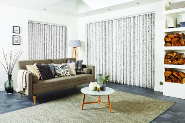 Woodland Silver Birch vertical blind irixoj